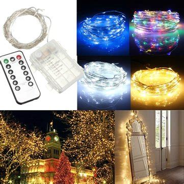 battery operated christmas lights with remote 10m 100 led battery operated silver wire string light remote controller sale