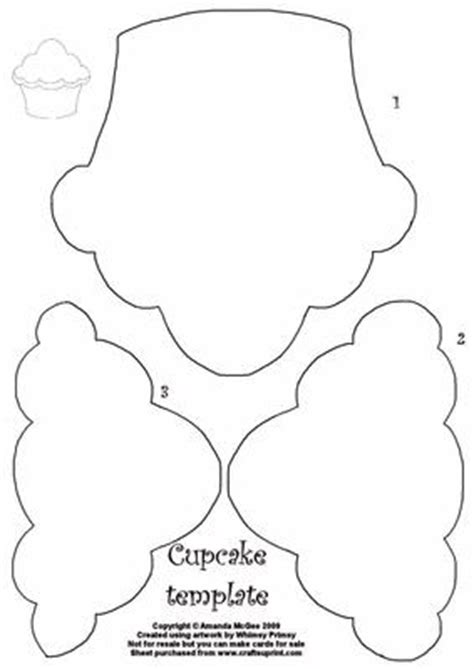 cupcake shaped card template cupcake template cup27572 56 craftsuprint