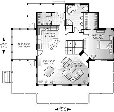 waterfront cottage floor plans vacation home plans waterfront cottage house plans