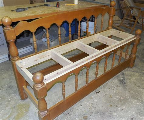 making a bench from a headboard headboard bench frame home decor inspirations