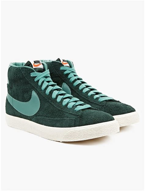 nike mens green blazer mid vintage sneakers in green for lyst