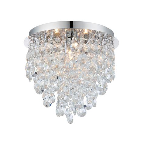 crystal bathroom ceiling light endon kristen clear crystal bathroom flush ceiling light