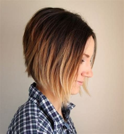 short ombre inverted bob haircut  women styles weekly