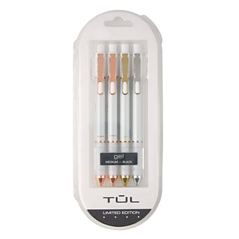 tul pearl retractable gel pens medium point 0 7 mm pearl