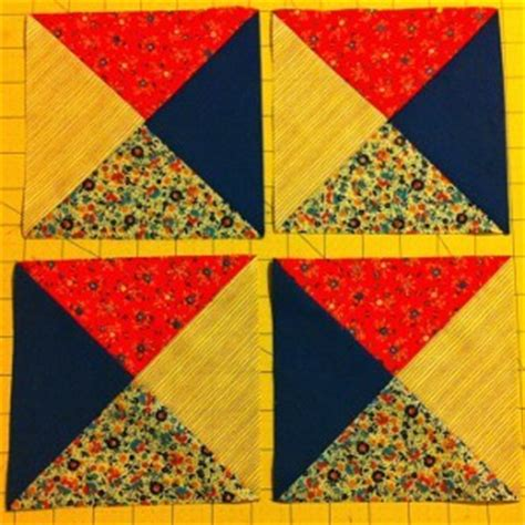 Basic Block Quilt by Simple Quarter Square Triangle Quilt Blocks Favequilts