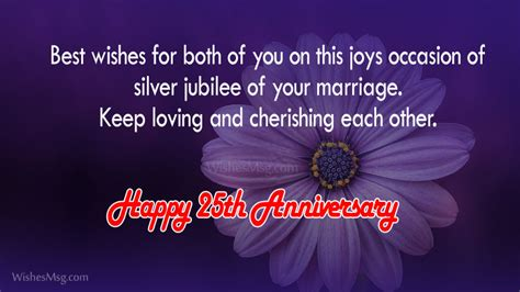 25th Wedding Anniversary Wishes For by 25th Wedding Anniversary Wishes And Messages Wishesmsg