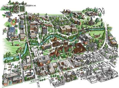 Chico State Campus Map by Campus Map Csu Chico
