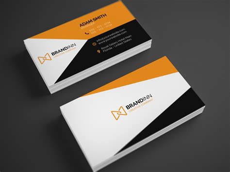 id card design orange creative orange business card 23 graphic pick
