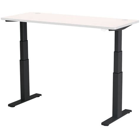 electric height adjustable table base adjusts from 24