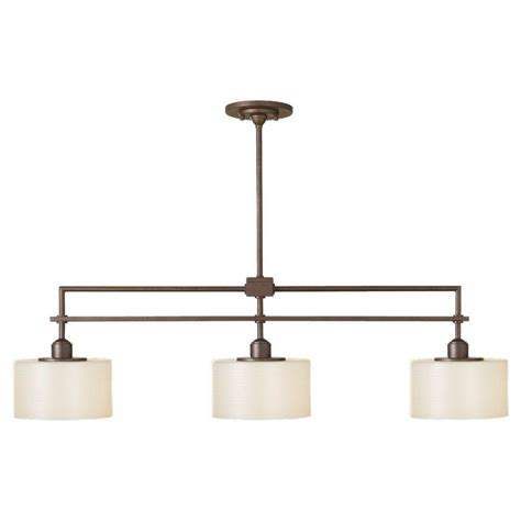 feiss sunset drive 3 light corinthian bronze island light - Island Lighting