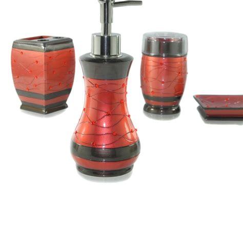 red toothbrush holder bathroom accessories dream bath passion spread bath ensemble 4 piece bathroom