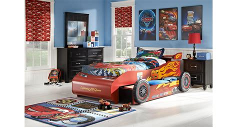 lightning mcqueen bedroom disney cars lightning mcqueen black 8 pc bedroom