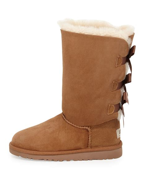 with ugg boots ugg bailey boot with bow in brown lyst