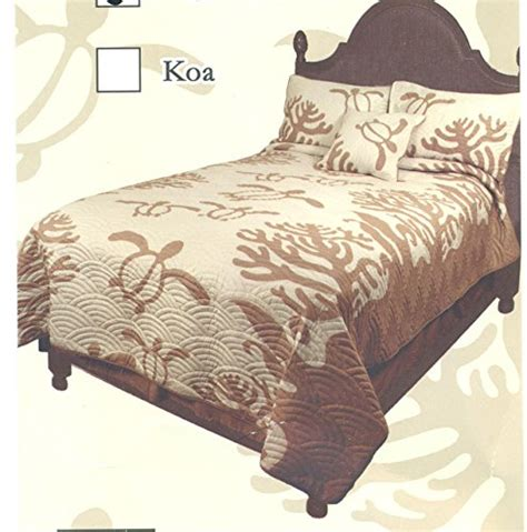 Hawaiian Quilt Bedding by Honu Sea Turtle Hawaiian Quilt Bedding Beachfront Decor