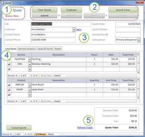 microsoft access quotation template turn quotes into paid invoices by using the services web