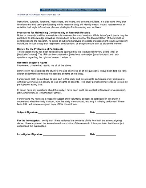 Sle Letter Of Informed Consent For Research Research Consent Form Focus Groups And End User Interviews Page 2 Digital Library