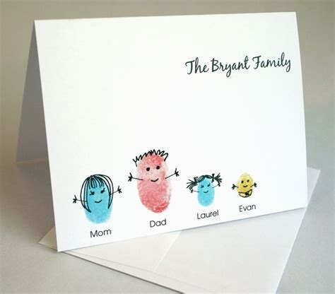Thumb Print Cards Craft By Free Template by 25 Best Ideas About Fingerprint Cards On