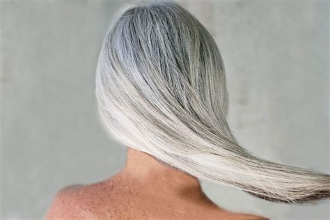 how to care for thick gray hair on over sixty woman gone gray how to care for your hair