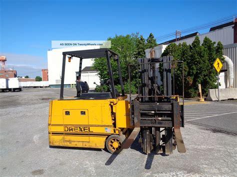 drexel swing mast drexel slt30 3 000 lbs electric forklift side loader