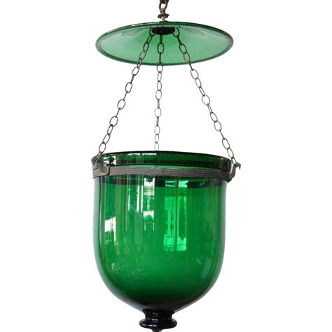 Lighting Fixtures India Anglo Indian Green Glass Hanging Light Hundi From Eronjohnsonantiques On Ruby