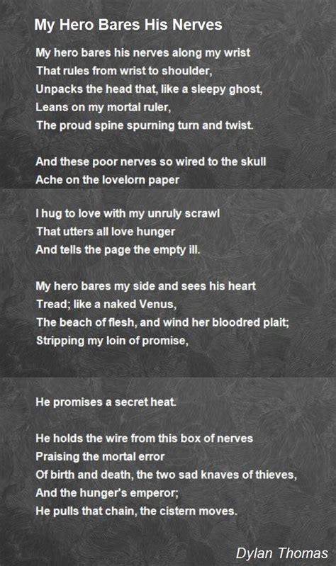 my poem my bares his nerves poem by poem