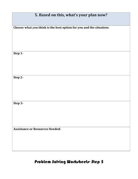 Problem Solving Worksheets by Social Problem Solving Worksheets Photos Jplew