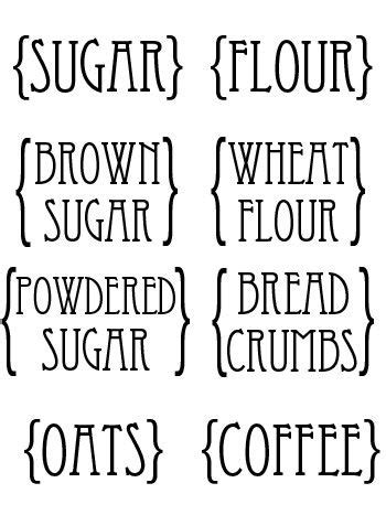labels for kitchen canisters custom kitchen canister labels printables