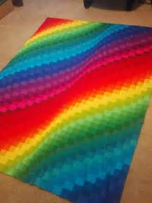 rainbow bright bargello quilt favequilts