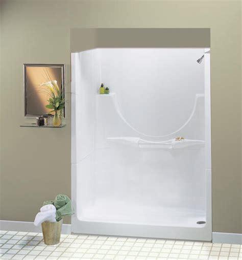menards bathroom shower stalls maax 174 60 quot allegro ii 1 piece shower no seat or roofcap