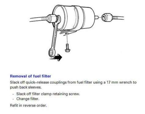 replace fuel filter    volvo forums