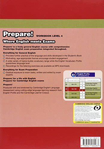 libro cambridge english prepare level libro cambridge english prepare level 4 workbook con espansione online con cd audio per le
