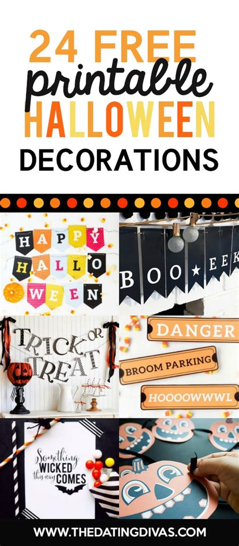 printable halloween decorations pdf 101 free halloween printables the dating divas