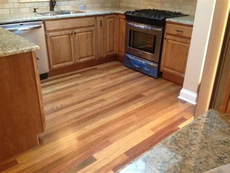 durable hardwood flooring cumaru durable exotic hardwood floor in the kitchen yelp