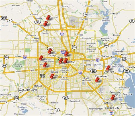 houston texas city map houston tx map