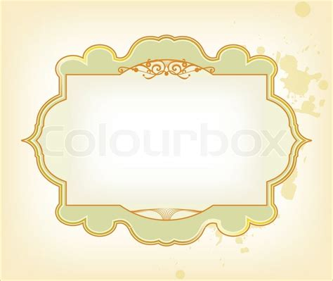 card frame template 2x2 template frame design for card stock vector colourbox