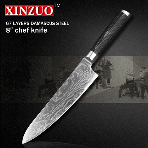 highest quality kitchen knives aliexpress buy xinzuo 8 quot inch high quality chef knife china 67 layer damascus stainless