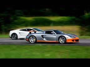 Vs Lamborghini Vs Porsche 1080p Porsche Gt Vs Lamborghini Lp560 4 Gallardo