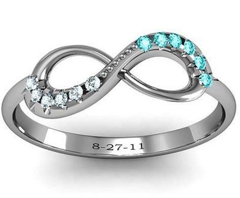 infiniti ring ring designs infinity ring designs birthstones