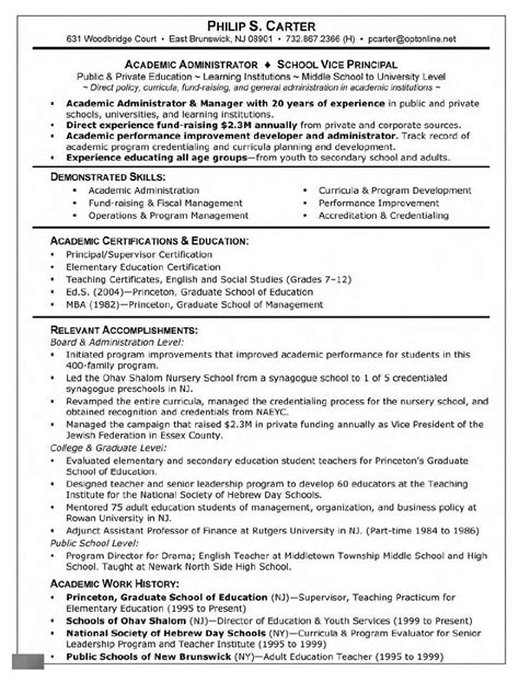 Resume For Grad School by Graduate School Supervisor Resume 447 Http Topresume