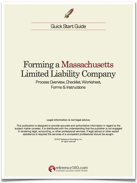 llc fast and easy guide to forming a limited liability company and starting a business the right way books how to form an llc in massachusetts reference180