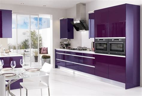 purple kitchen ideas 15 high gloss kitchen designs in bold color choices home design lover