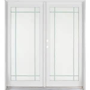 Interior French Doors Home Depot Ashworth Professional Series 72 In X 80 In White