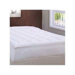 lcm home fashions damask stripe pillow top mattress pad