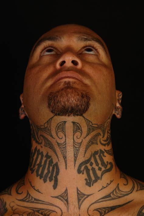 throat tattoos maori polynesian tiki taane throat