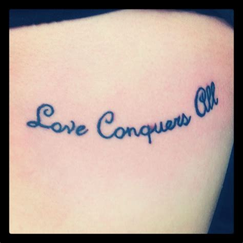 love conquers all tattoo designs conquers all rib tattoos