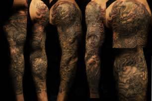 Foo dog tattoo sleeve full sleeve foo dogs tattoo
