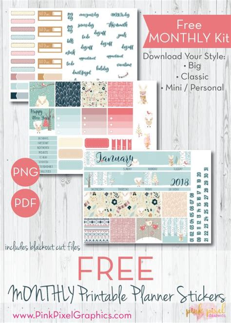 Monthly Planner Sticker best 25 printable planner stickers ideas on