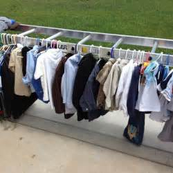 Clothing For Sale Great Idea For Displaying Clothes At A Garage Sale Turn A