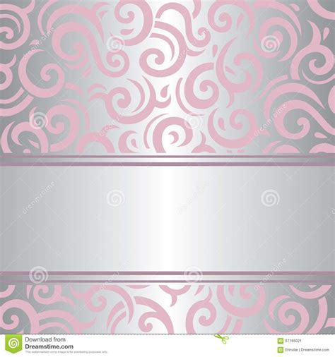 wallpaper vintage vector design background pink silver invitation vintage retro vector wallpaper