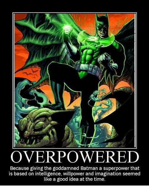 Batman Green Lantern Meme - batman as a green lantern alternate universe know